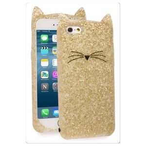 🆕 Kate Spade iPhone 6 7 silicone cat case